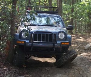 Jeep Liberty upper a-arm ball joint failure.